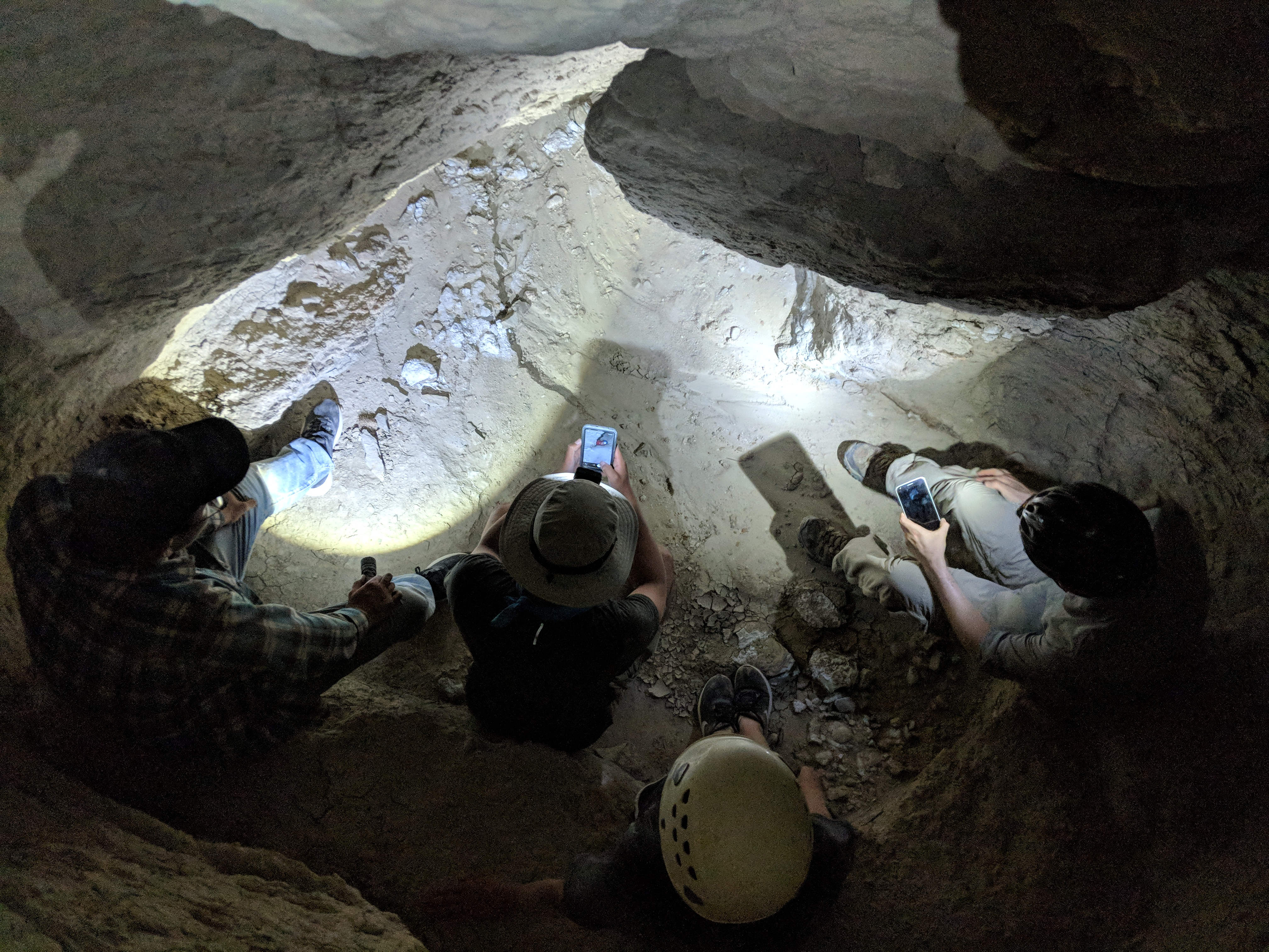 Meeting in a cave